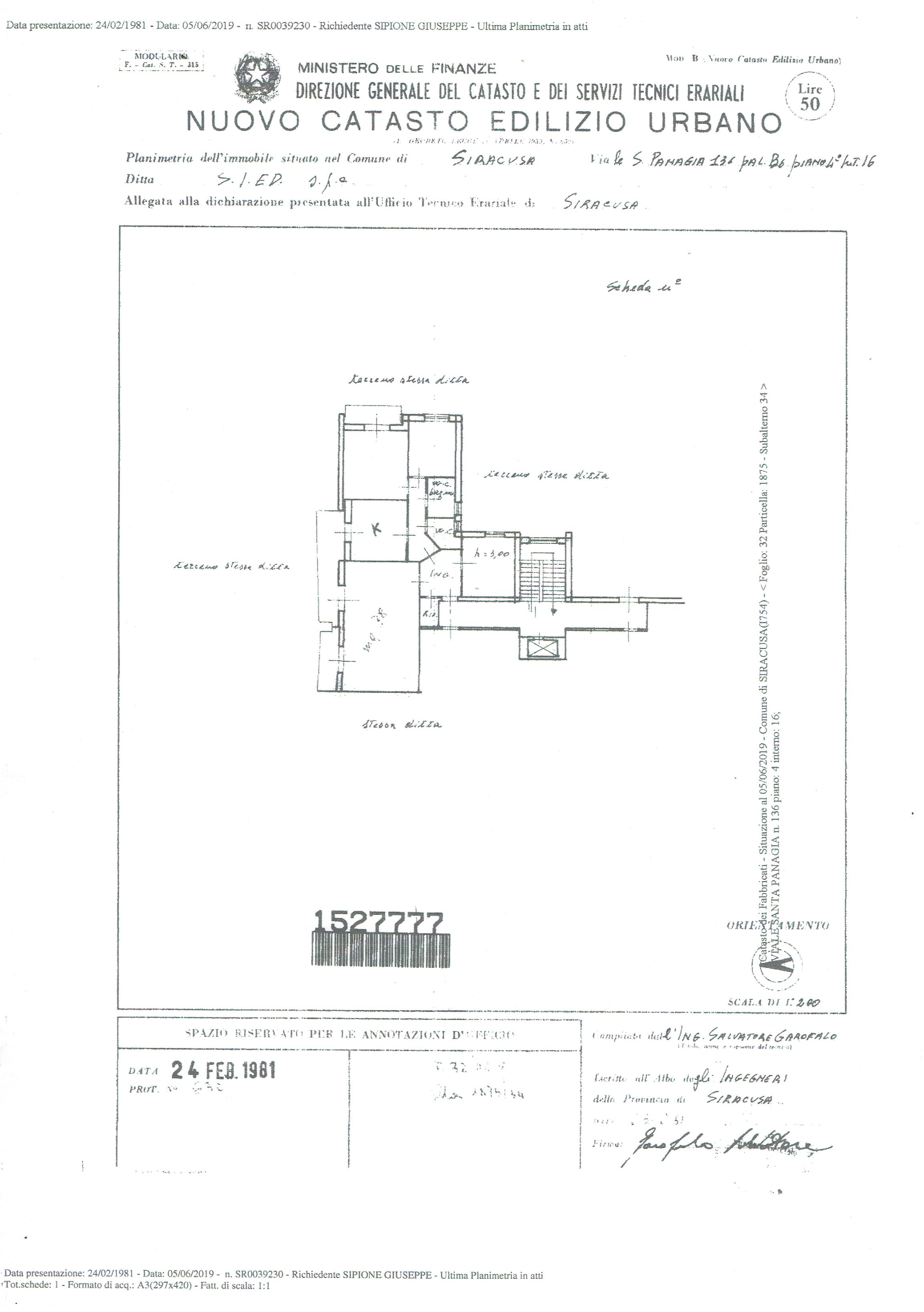 Appartamento con garage in zona Santa Panagia/ Tribunale